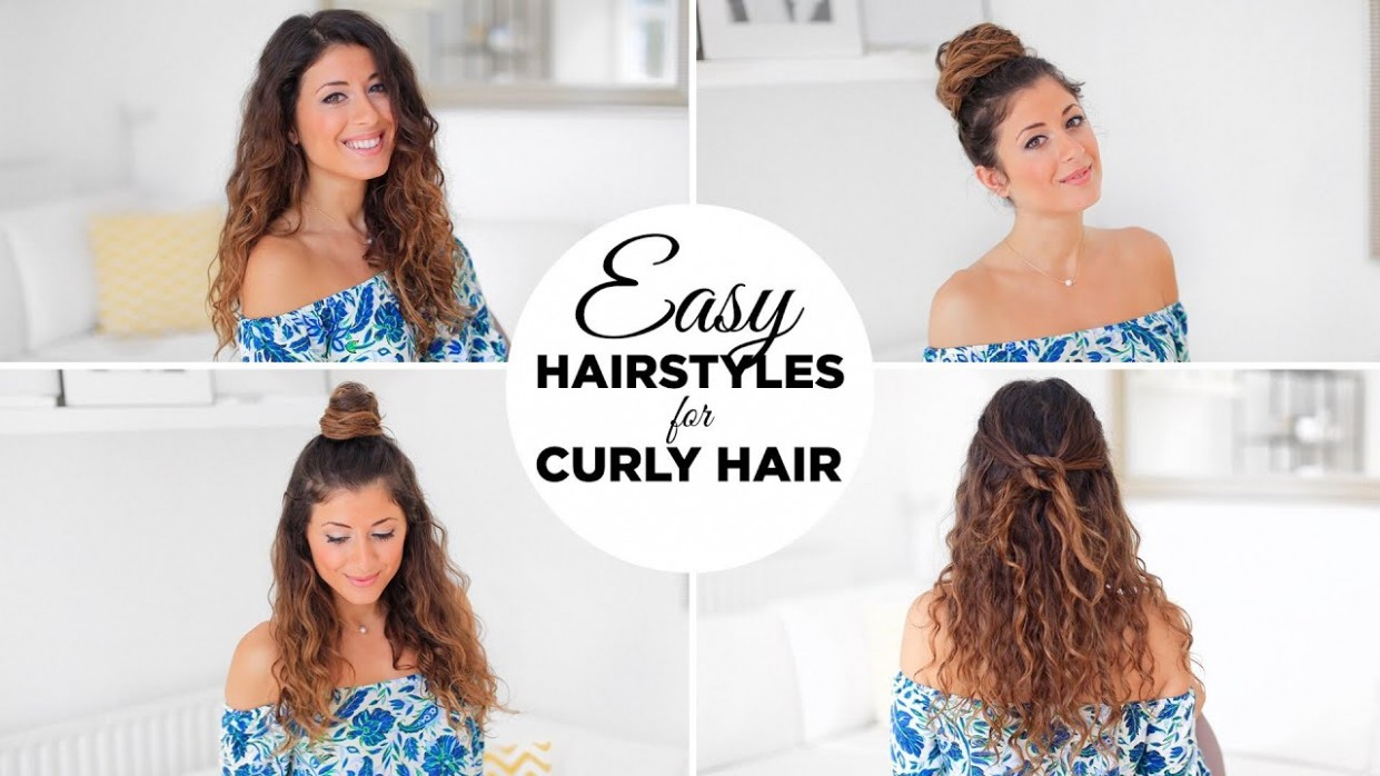 10 Easy Hairstyles For Curly Hair Easy Hairstyles For Curly Frizzy Hair