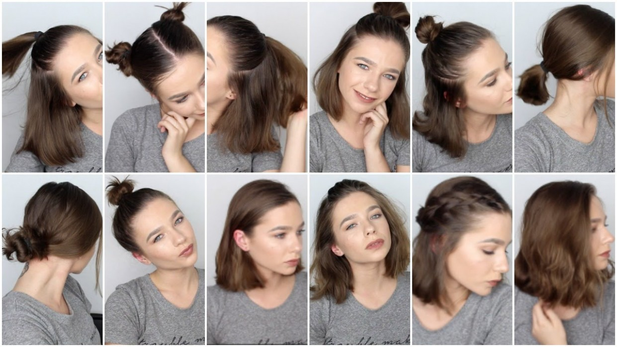 10 EASY HAIRSTYLES FOR SHORT HAIR ♡