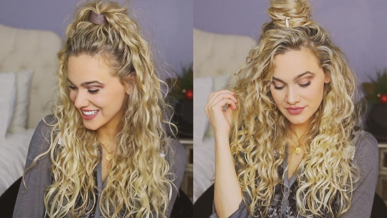 10 Easy Holiday Hairstyles For Curly Hair Hairstyles For Very Curly Hair