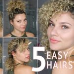 10 EASY SHORT CURLY HAIRSTYLES USING TWISTS TO WEAR TO WORK OR SCHOOL Hairstyles To Do With Short Curly Hair