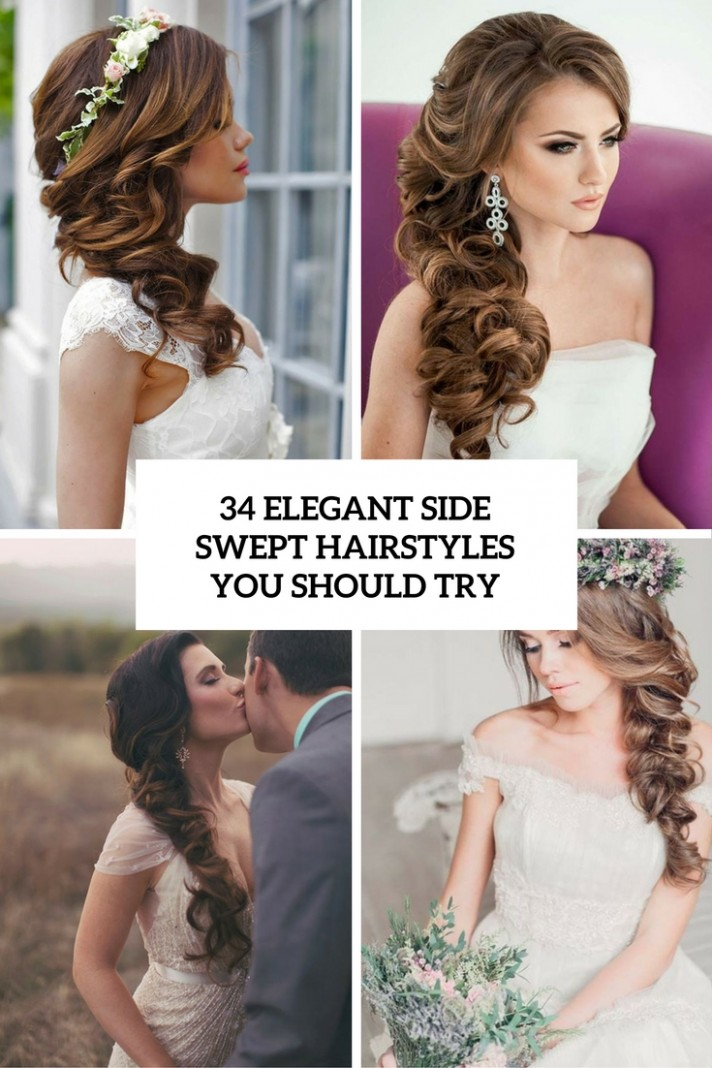 10 Elegant Side Swept Hairstyles You Should Try Weddingomania Side Swept Hairstyles For Long Hair