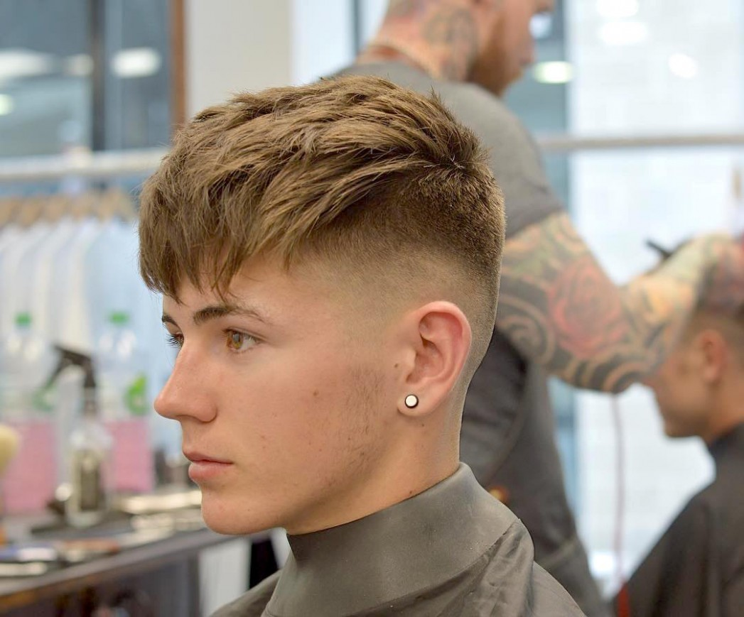 10 Fade Haircut Styles For 10 > Every Type Of Fade You Can Try Mens Haircut Fade Long On Top