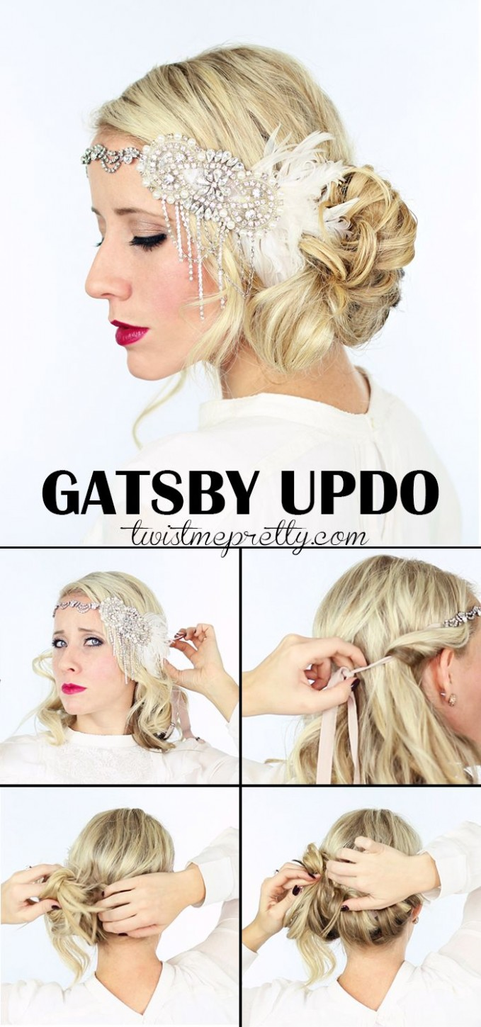 10 Gorgeous GATSBY Hairstyles For Halloween Or A Wedding Twist Gatsby Hairstyle For Long Hair