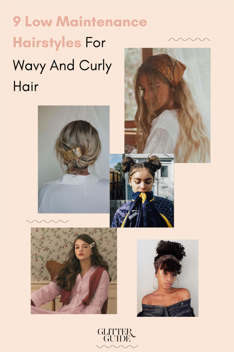 10 Low Maintenance Hairstyles For Wavy And Curly Hair Glitter Guide Interview Hairstyles For Curly Hair