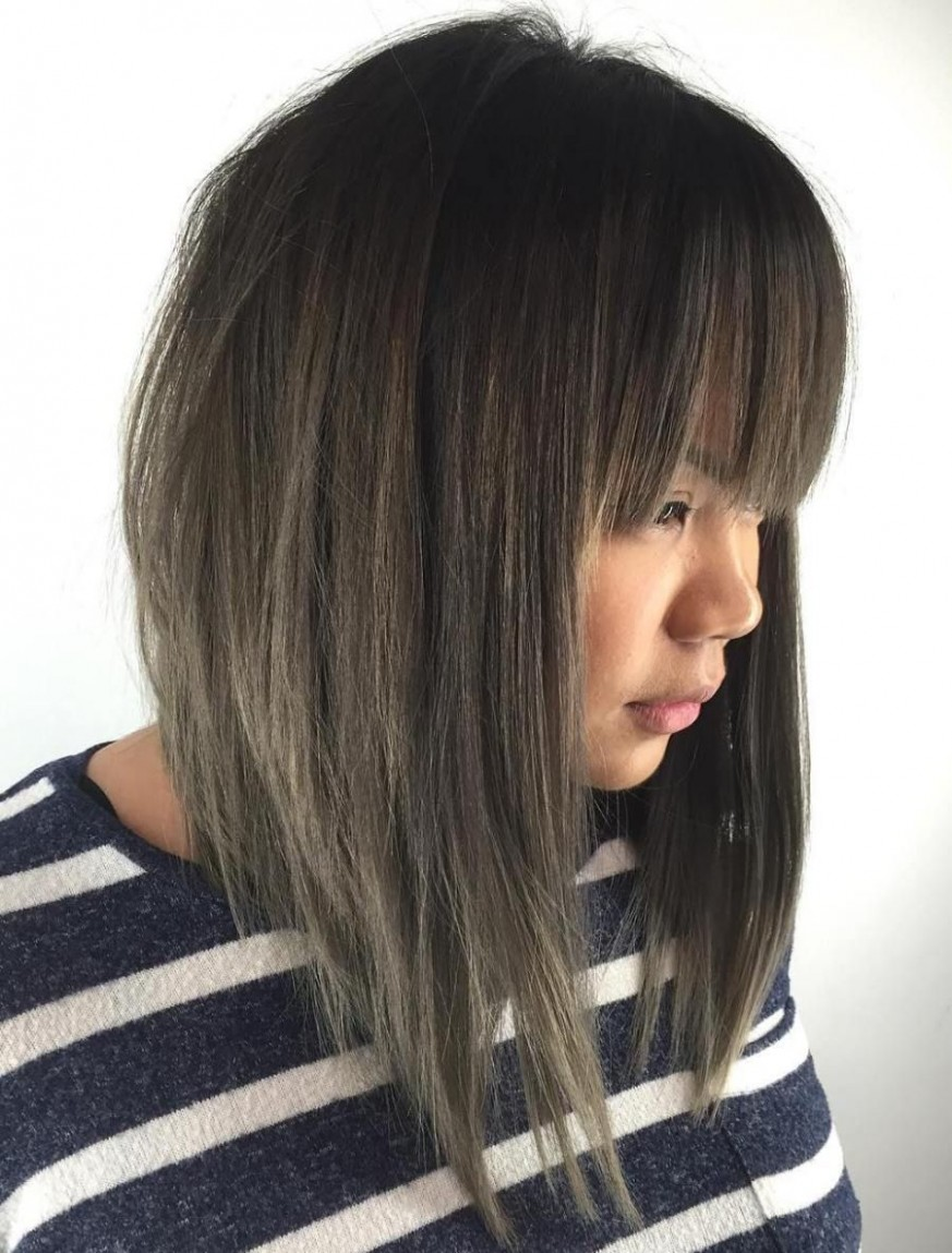 10 Modern Ways To Style A Long Bob With Bangs Long Bob Haircuts Long Bob With Long Bangs