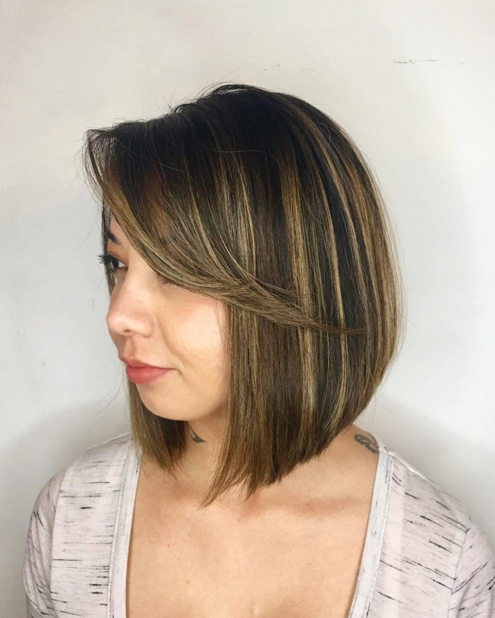 10 Most Flattering Bob Haircuts For Round Faces Long Bob For Round Face