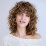 10 Most Trendy And Flattering Bangs For Round Faces In 10 Hadviser Curly Hair For Round Face