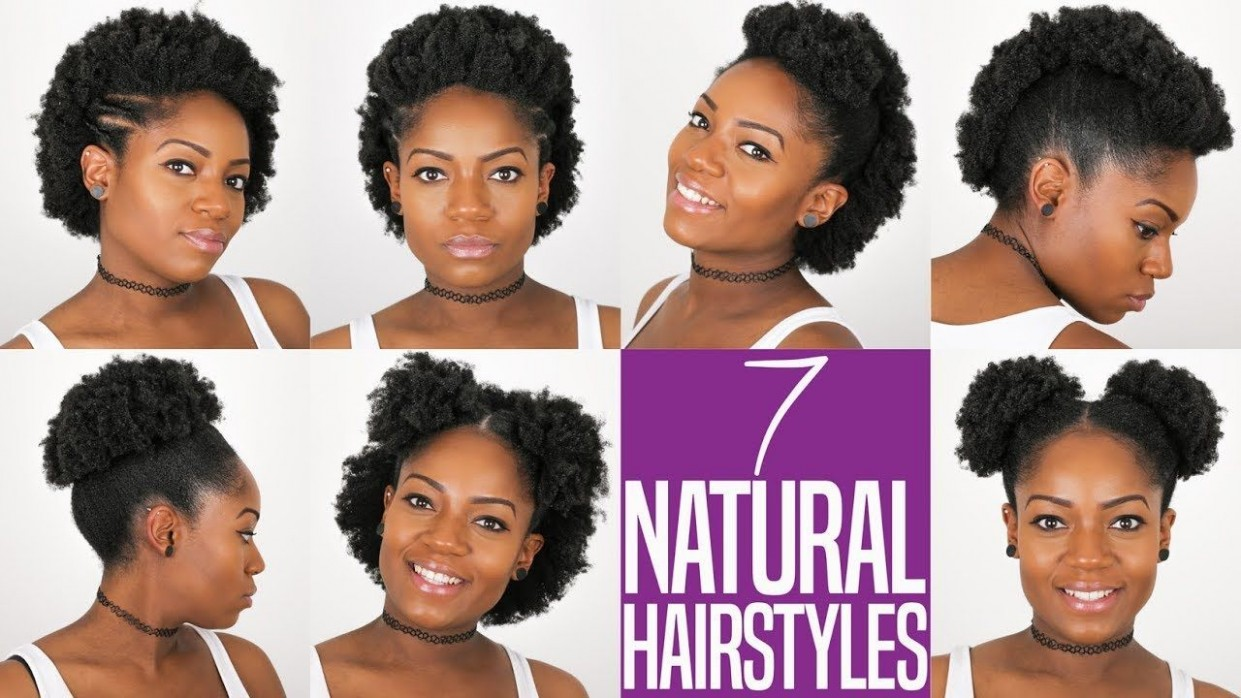 10 Natural Hairstyles For Short To Medium Length 10B/C Natural Hair Hairstyles For Short 4C Hair