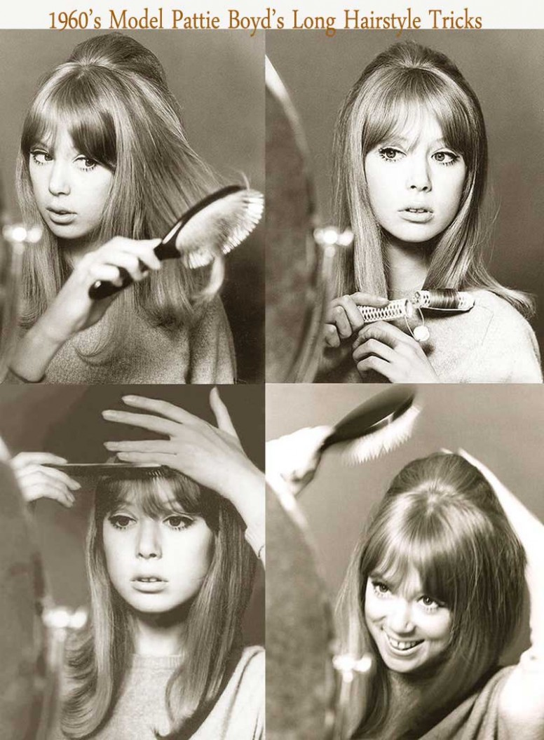 10's Hairstyles for Long Hair - Pattie Boyd.  Glamour Daze