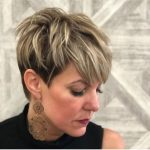 10 Short Haircuts With Highlights » Short Haircuts Models Dark Pixie Cut With Highlights