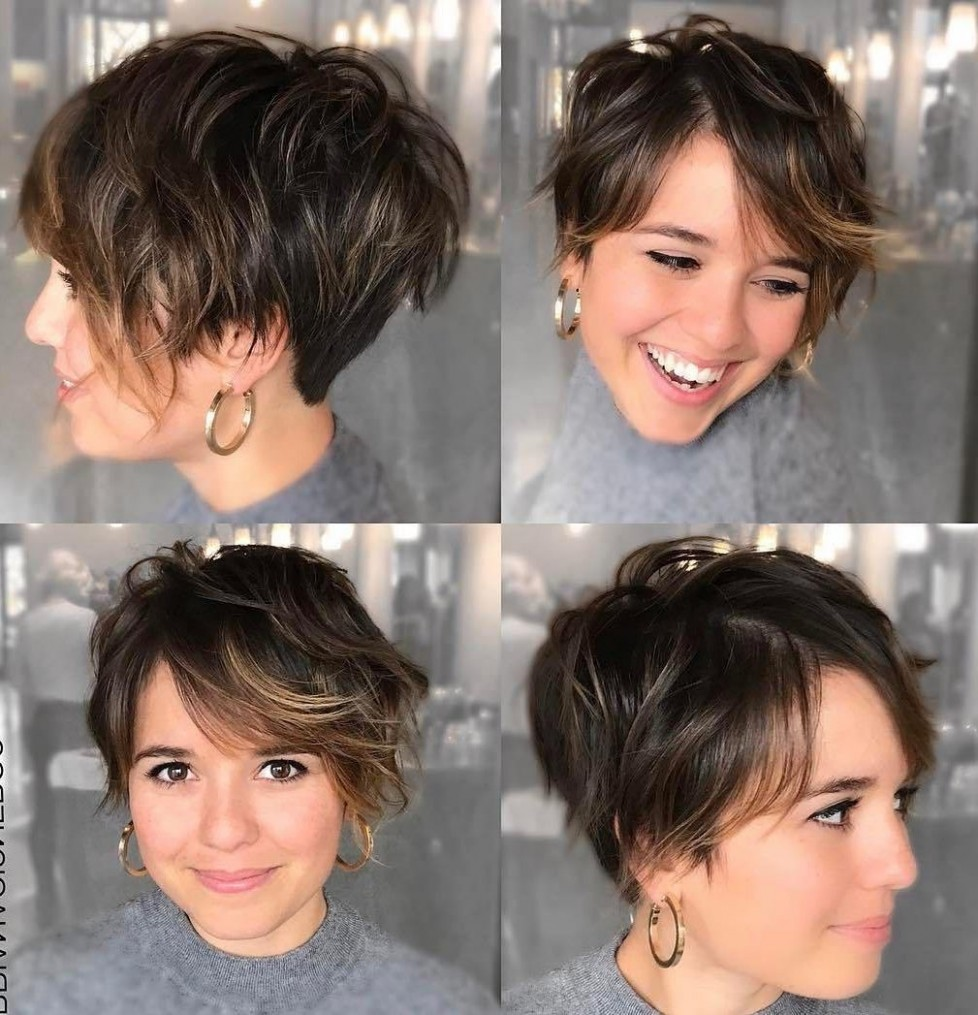 10 Short Hairstyles For Round Faces And Thin Hair – Short Hair Models Pixie Cut For Round Chubby Face