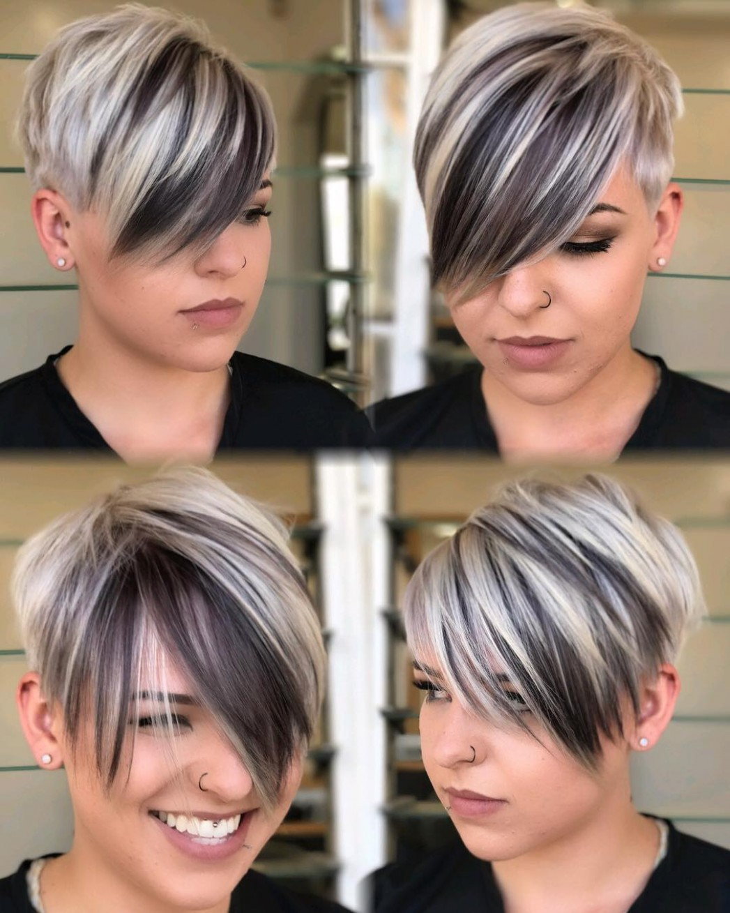 10 Short Hairstyles For Round Faces With Slimming Effect Hadviser Pixie Cut For Round Chubby Face
