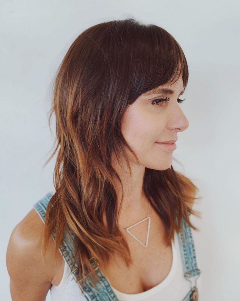 10 Stunning Layered Haircuts With Bangs StylesRant Face Framing Layers With Bangs