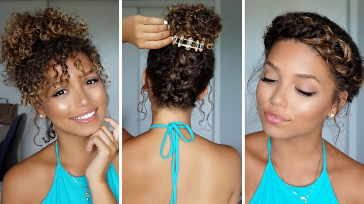 10 Summer Hairstyles For Curly Hair Ashley Bloomfield Cool Hairstyles For Curly Hair
