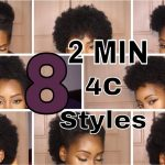 10 SUPER QUICK HAIRSTYLES ON SHORT 10C HAIR Hairstyles For Short 4C Hair