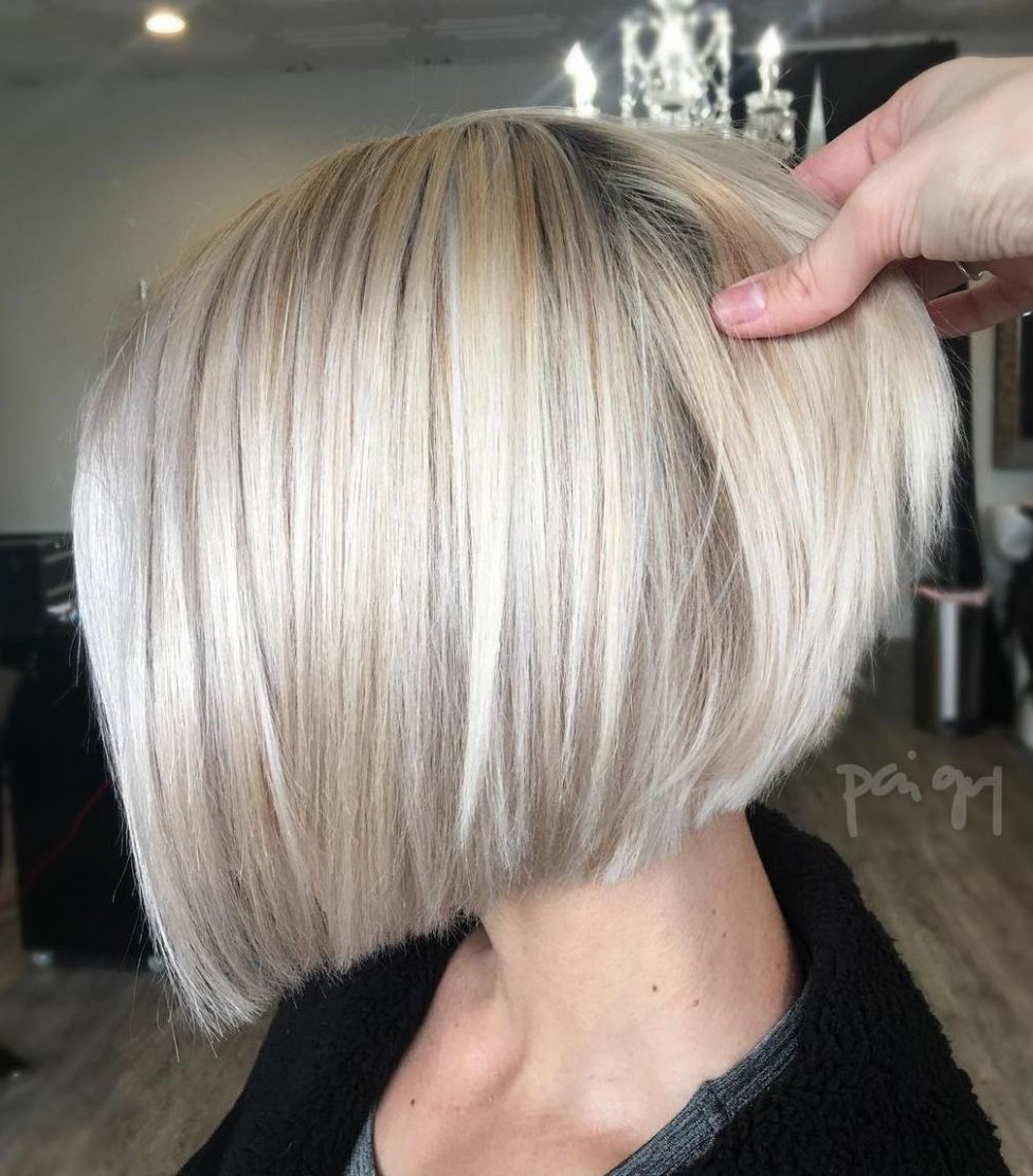 10 Winning Looks With Bob Haircuts For Fine Hair Blonde Inverted Bob