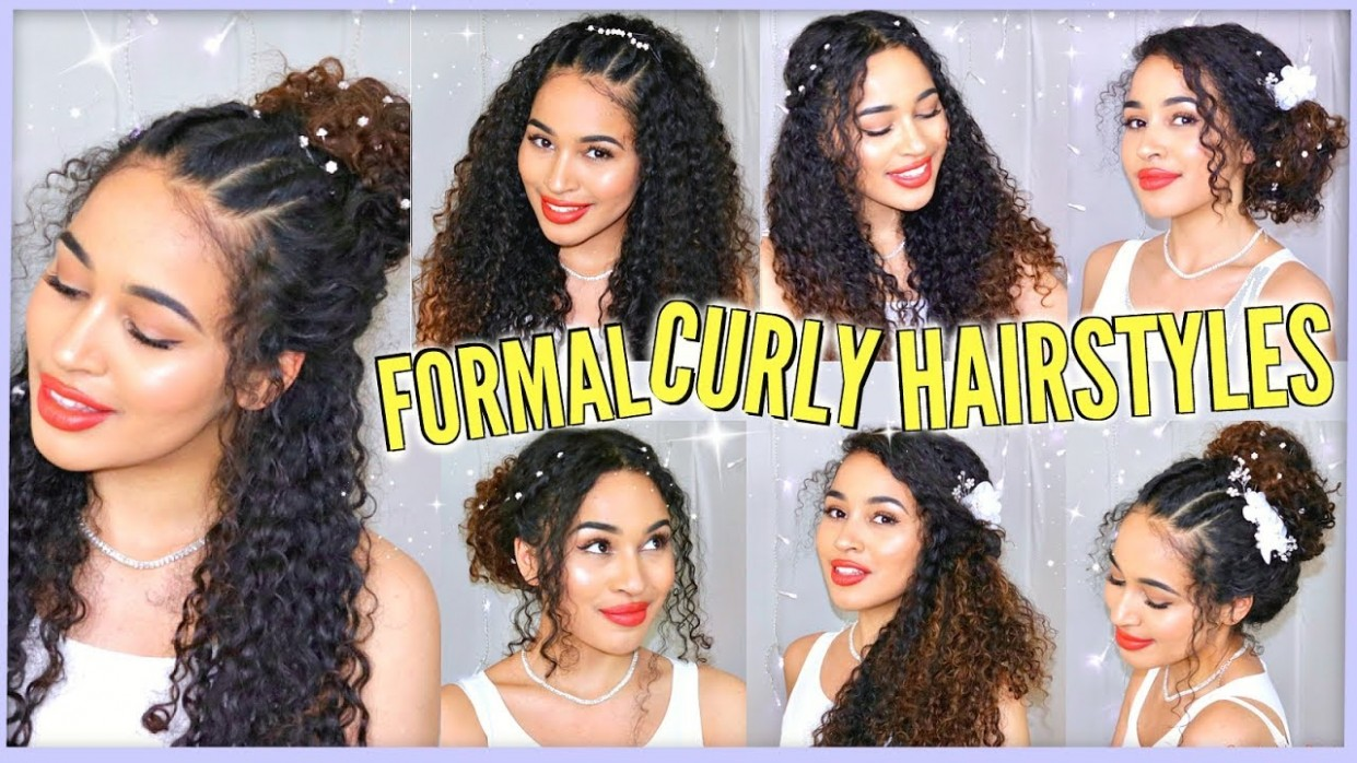 11 Best Curly Hairstyles For Prom, Graduation, Formals & Weddings! Naturally Curly Graduation Hairstyles For Curly Hair