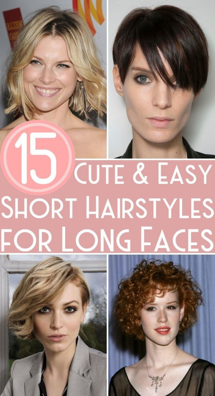 11 Cute & Easy Short Hairstyles For Long Faces Long Face Shapes Hair Style For Long Face