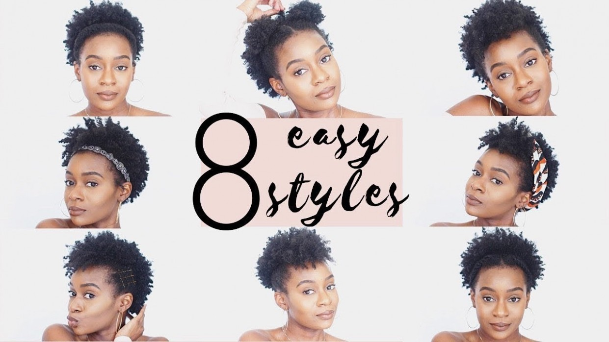 11 Easy Hairstyles For SHORT 11C Natural Hair 11C NATURAL HAIRSTYLES Short 4C Natural Hair Styles
