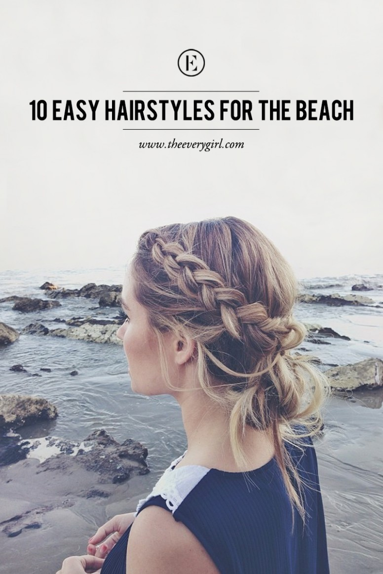 11 Easy Hairstyles For The Beach The Everygirl Beach Hairstyles For Short Hair