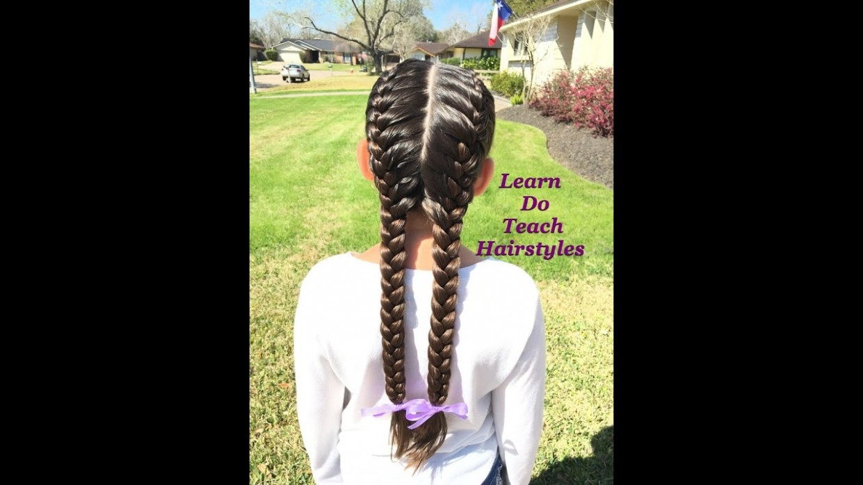 11 French Braids From Start To Finish 2 Long French Braids
