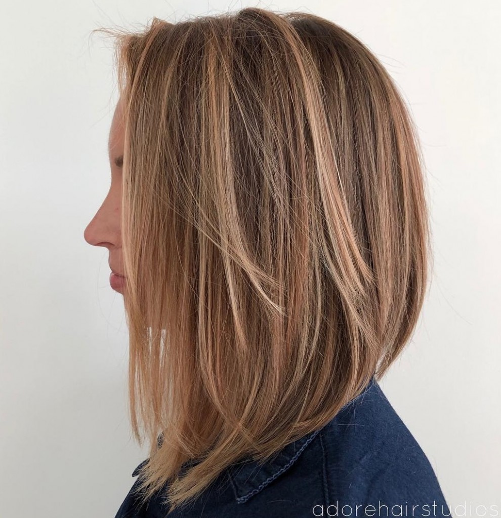 11 Layered Bobs You Will Fall In Love With Hair Adviser Long Inverted Bob With Layers