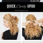 11 Min Updo For Curly Hair Hair Romance Curly Hair Updo, Hair Casual Updos For Curly Hair