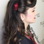 """11 Pin Up Hairstyles That Scream """"Retro Chic"""" (Tutorials Included) 50S Updo Hairstyles For Long Hair"""