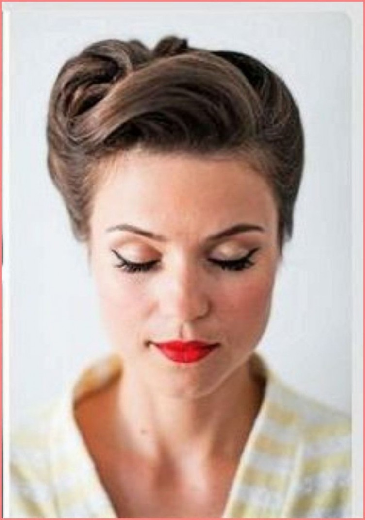 11s Hairstyles For Long Hair Vintage Frisuren, Rockabilly Frisur 50S Updo Hairstyles For Long Hair