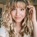 12 Bangs Curly Hairstyles For Any Occasion: Look Fashionable Always Side Swept Bangs Curly Hair