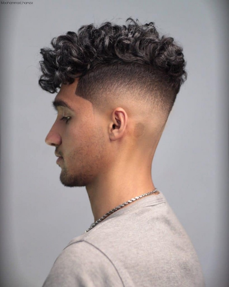 12 Best Curly Hairstyles & Haircuts For Men > 12 Trends Shaved Curly Hairstyles