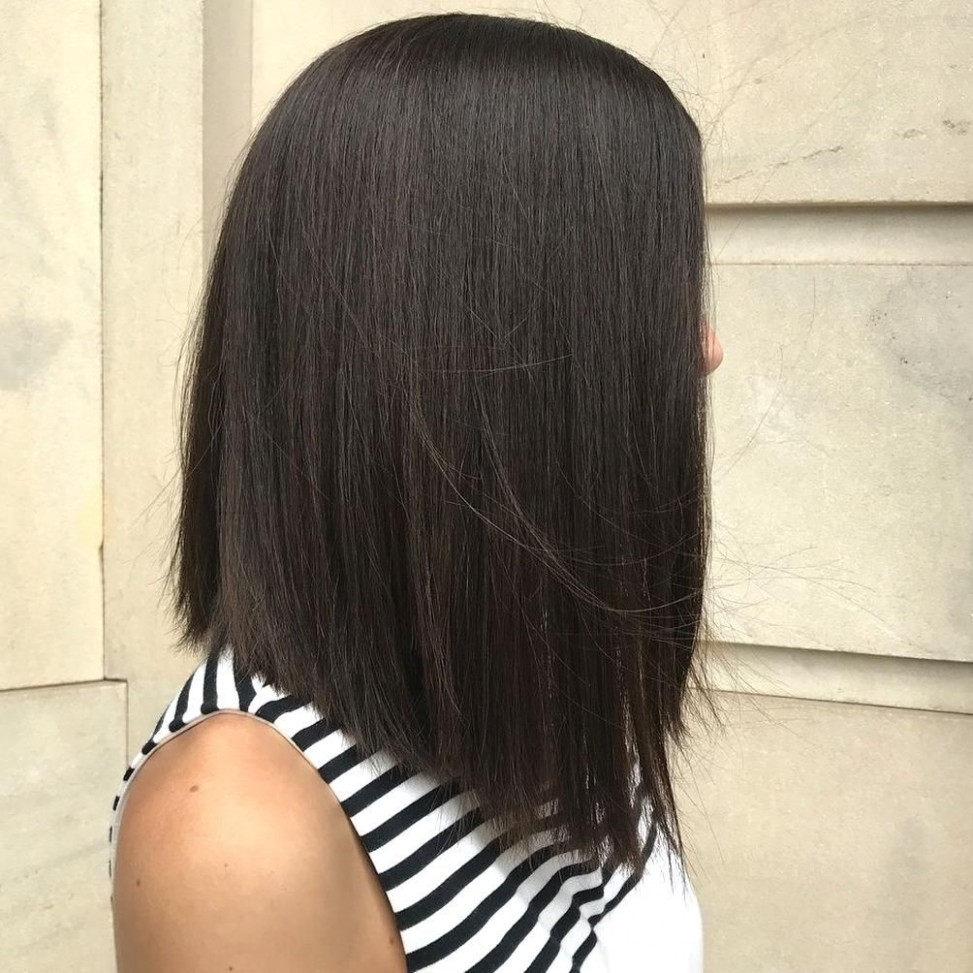 12 Best Lob Haircuts Hairstyles How To Style Your Long Bob In 12 Slanted Haircut