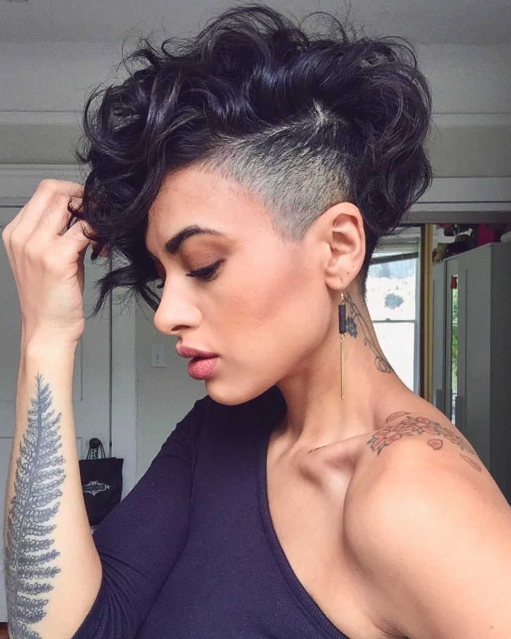 12 Bold Shaved Hairstyles For Women Shaved Hair Designs Shaved Curly Hairstyles