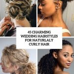 12 Charming Bride's Wedding Hairstyles For Naturally Curly Hair Cute Curly Updos