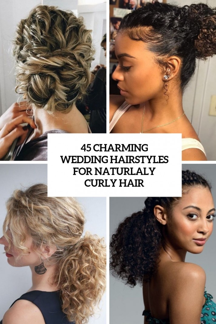 12 Charming Bride's Wedding Hairstyles For Naturally Curly Hair