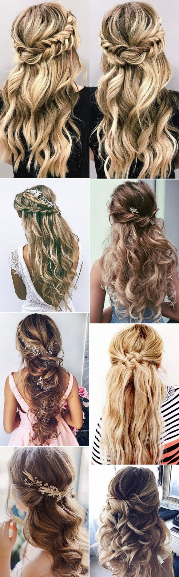 12 Chic Half Up Half Down Wedding Hairstyles For Long Hair Wedding Hairstyles For Long Hair Half Up