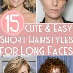 12 Cute & Easy Short Hairstyles For Long Faces Long Face Shapes Long Hairstyles For Long Faces