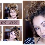 12 Cute & Easy Updo Looks On Curly Hair All Hair Types Cute Curly Updos