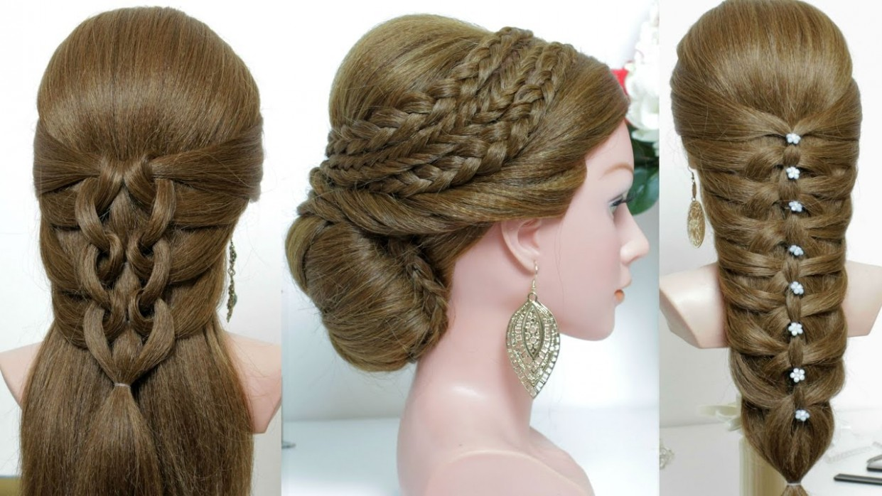 12 cute and easy hairstyles for long hair tutorial.
