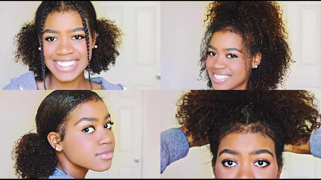 12 EASY And CUTE Hairstyles For Medium Length Curly Hair! Cute Easy Hairstyles For Curly Hair