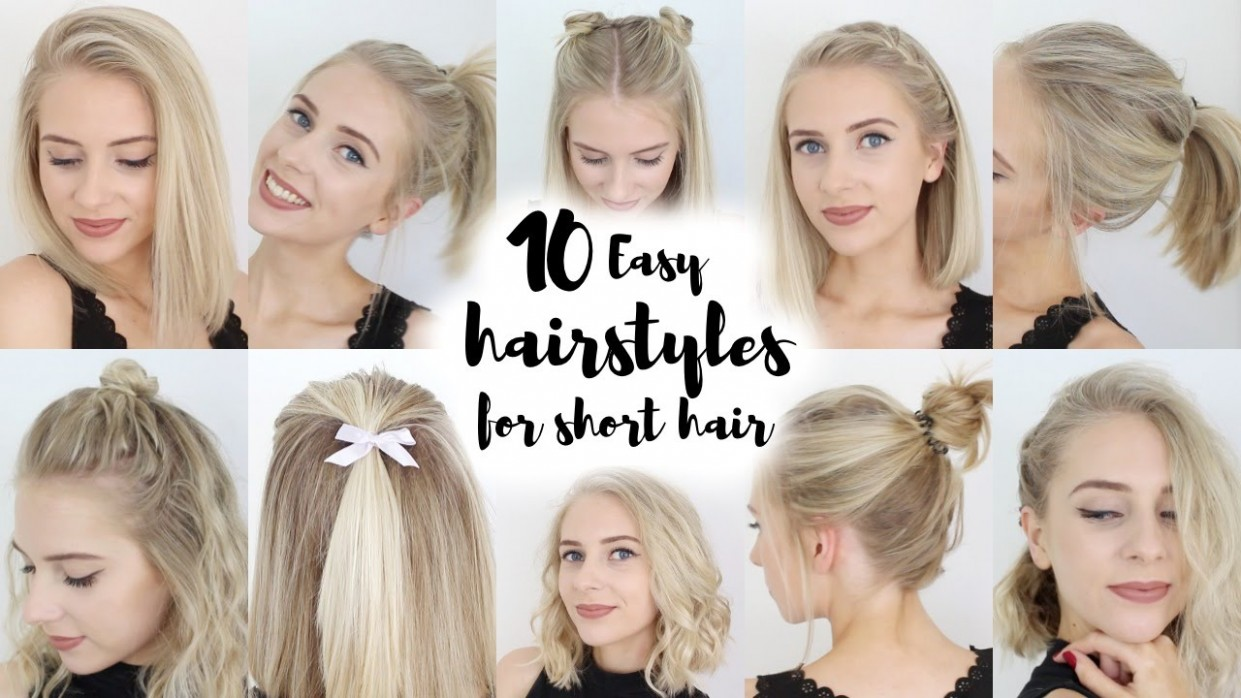 12 Easy Hairstyles For SHORT Hair Cute Hairstyles For Short Hair With Bangs