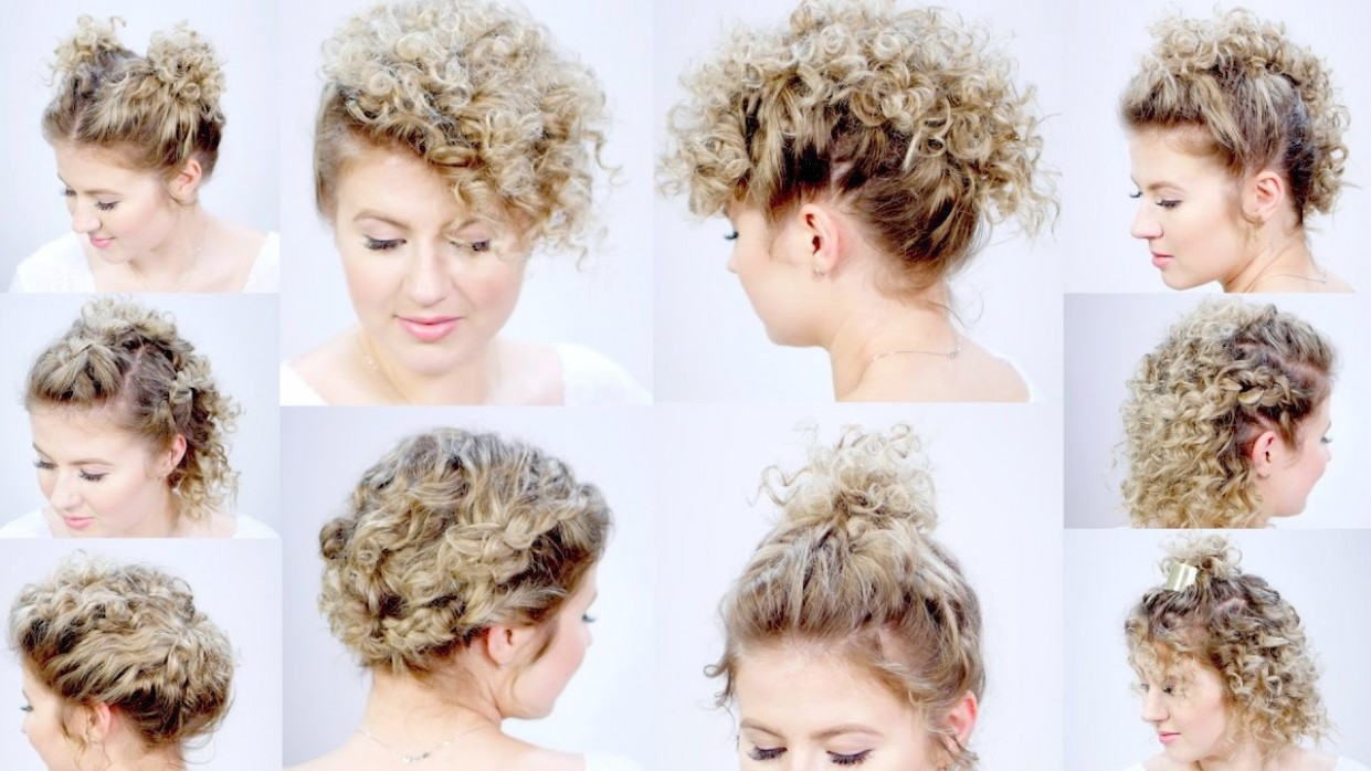 12 EASY HAIRSTYLES FOR SHORT HAIR With Curling Iron Milabu Easy Hairstyles For Short Curly Hair