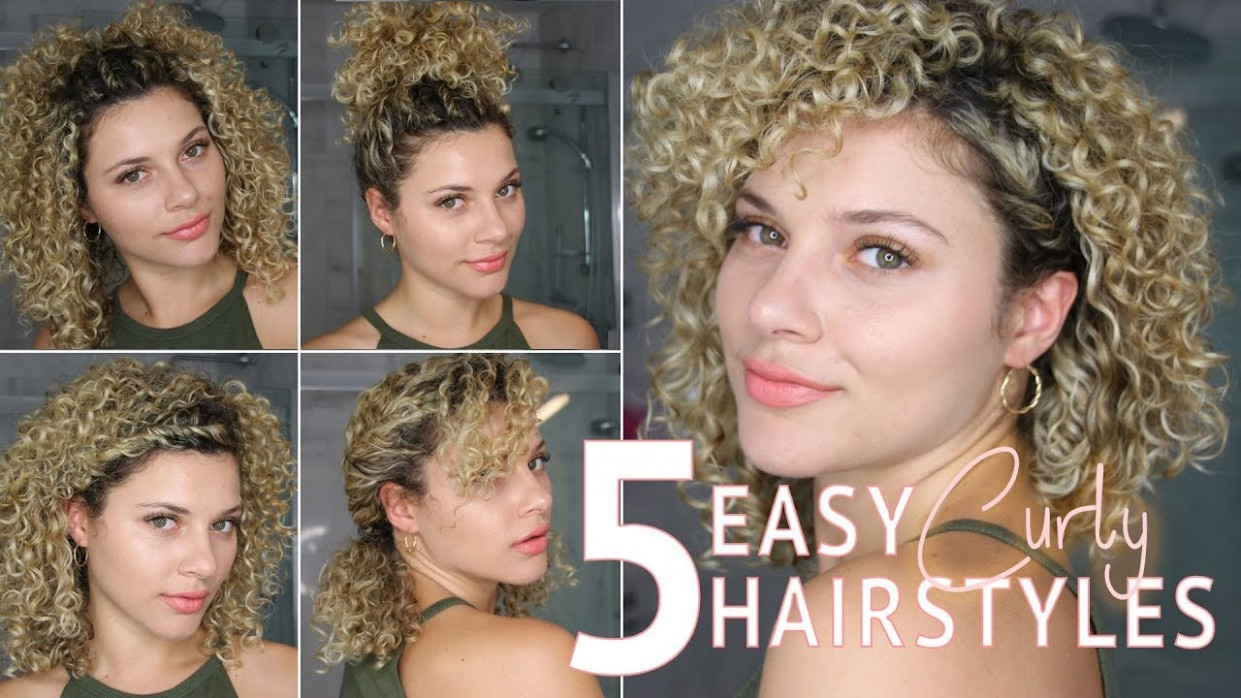 12 EASY SHORT CURLY HAIRSTYLES USING TWISTS TO WEAR TO WORK OR SCHOOL Easy Hairstyles For Short Curly Hair