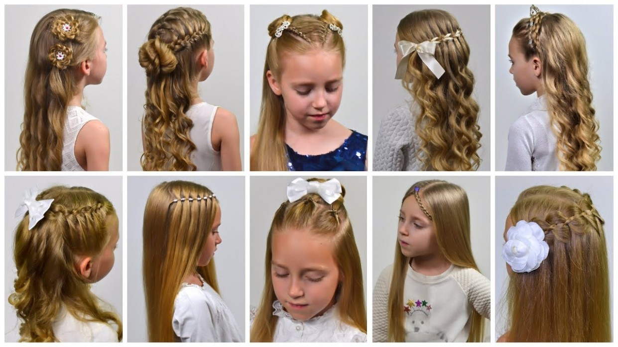 12 HOLIDAY HAIRSTYLES Half Up Half Down Hairstyles For Long Hair By LittleGirlHair Down Hairstyles For Long Hair