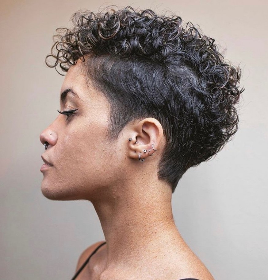 12 Hot Undercuts For Women That Are Calling Your Name Hair Adviser Undercut Short Curly Hair Female