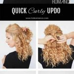 12 Incredibly Stunning DIY Updos For Curly Hair Curly Hair Bun Hairstyles