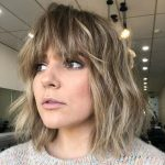 12 Long Bob With Bangs To Try Styling In 12 Curly Lob With Bangs