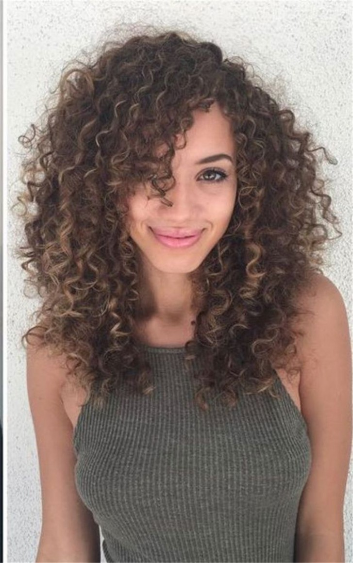 12 Long Curly Hairstyles And Colors 12 Long Curly Hair, Curly Side Curly Hair