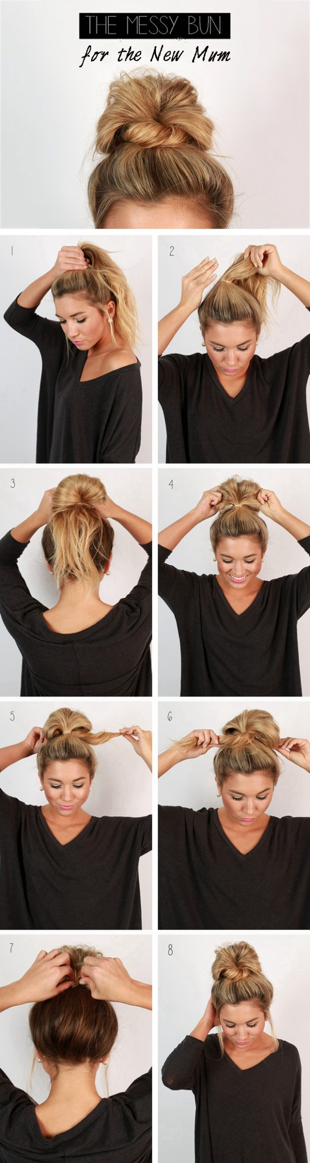 12 Messy Bun Ideas For All Kinds Of Occasions Messy Bun For Short Hair Step By Step