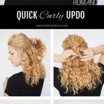 12 Min Updo For Curly Hair Hair Romance Cute Curly Updos